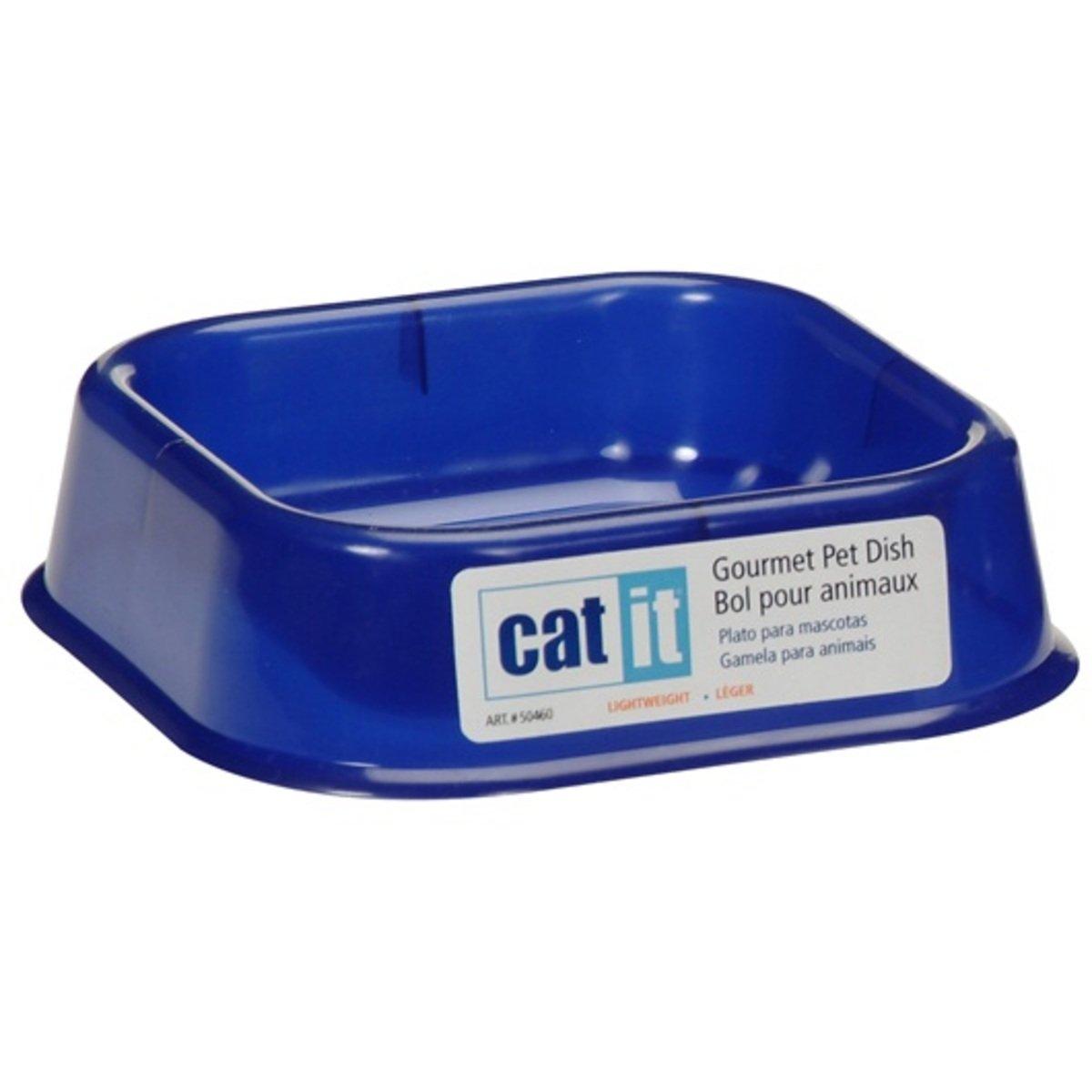 Catit輕身海洋藍貓用方形食物碗