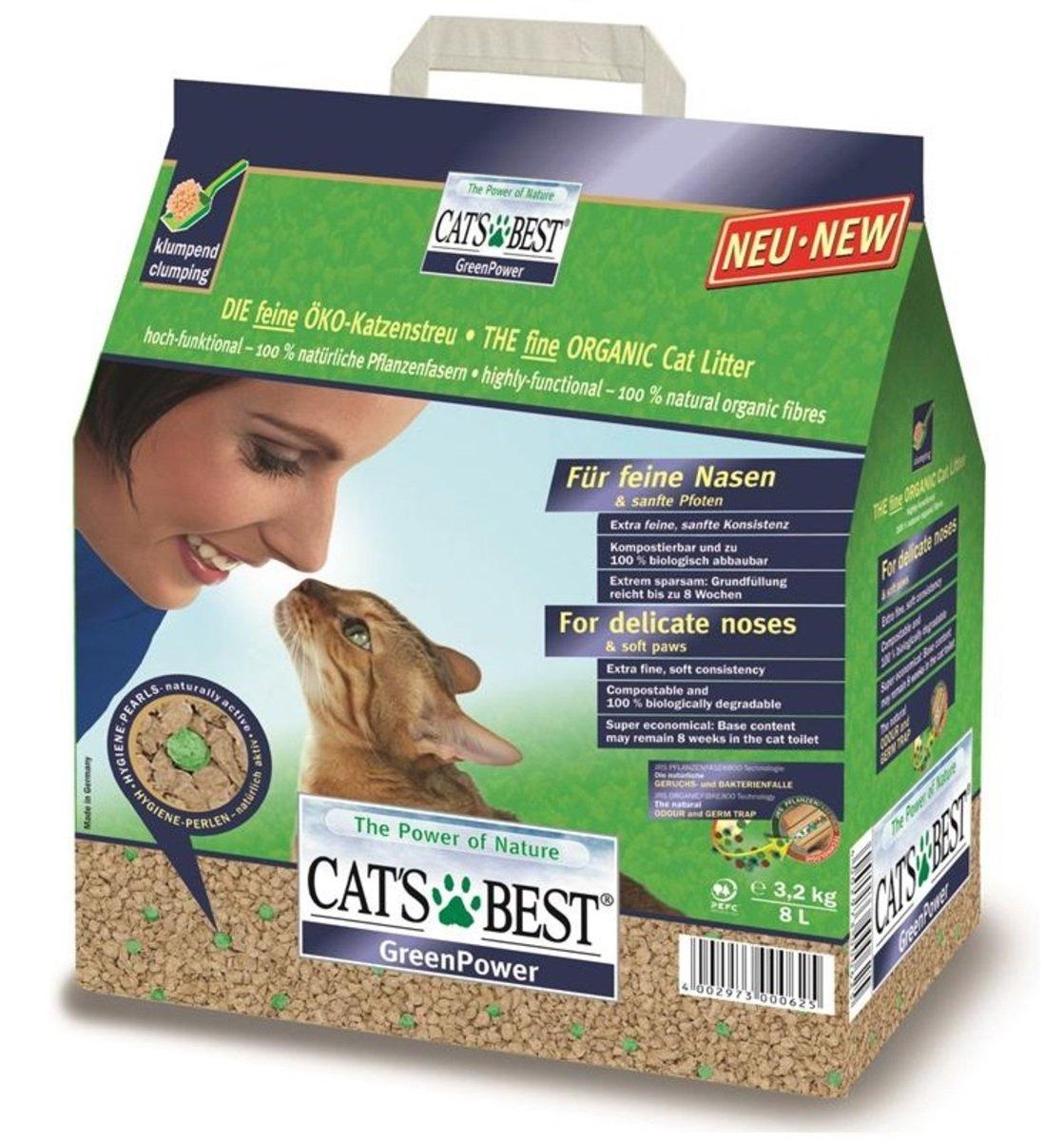 Cat's Best綠能吸臭抗菌木貓砂8L