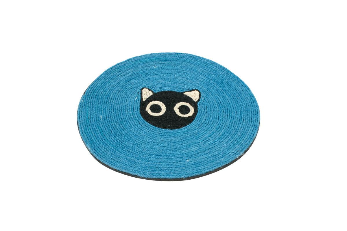 大眼貓圓形麻織貓抓板 39x39cm