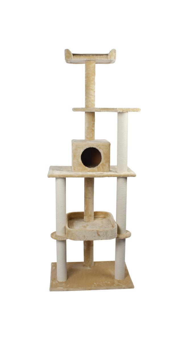 簡約五層大型貓臺 70x50x194cm