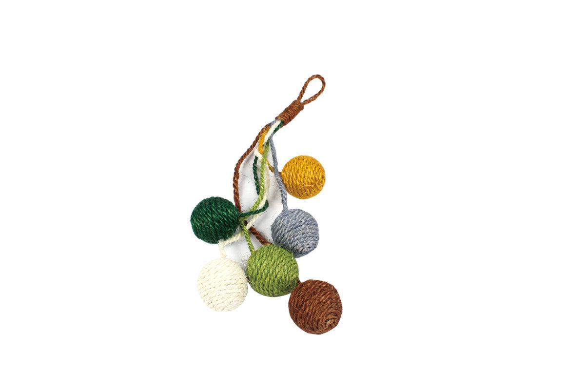 彩色麻繩玩具球 3.8cm