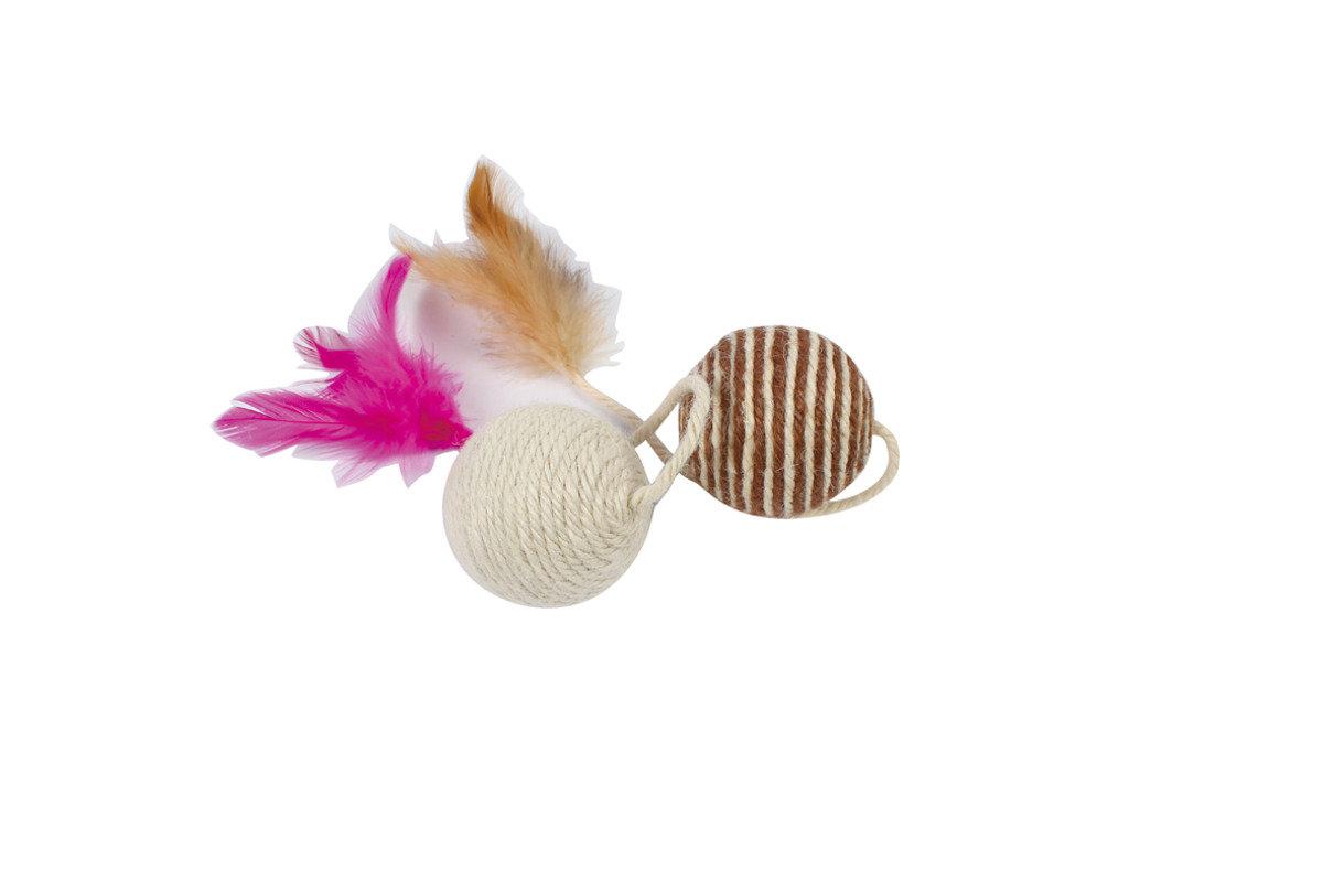 雙色麻繩玩具球 6cm