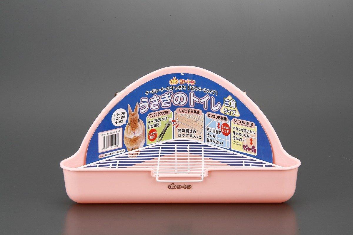 三角型兔子廁所-粉色 33.5x20.3x16.5cm