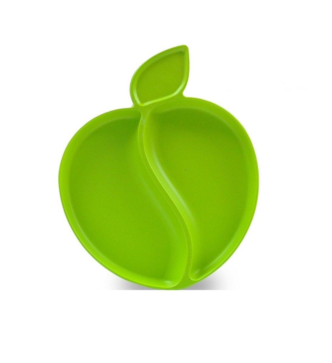 竹纖維蘋果碟-粉綠