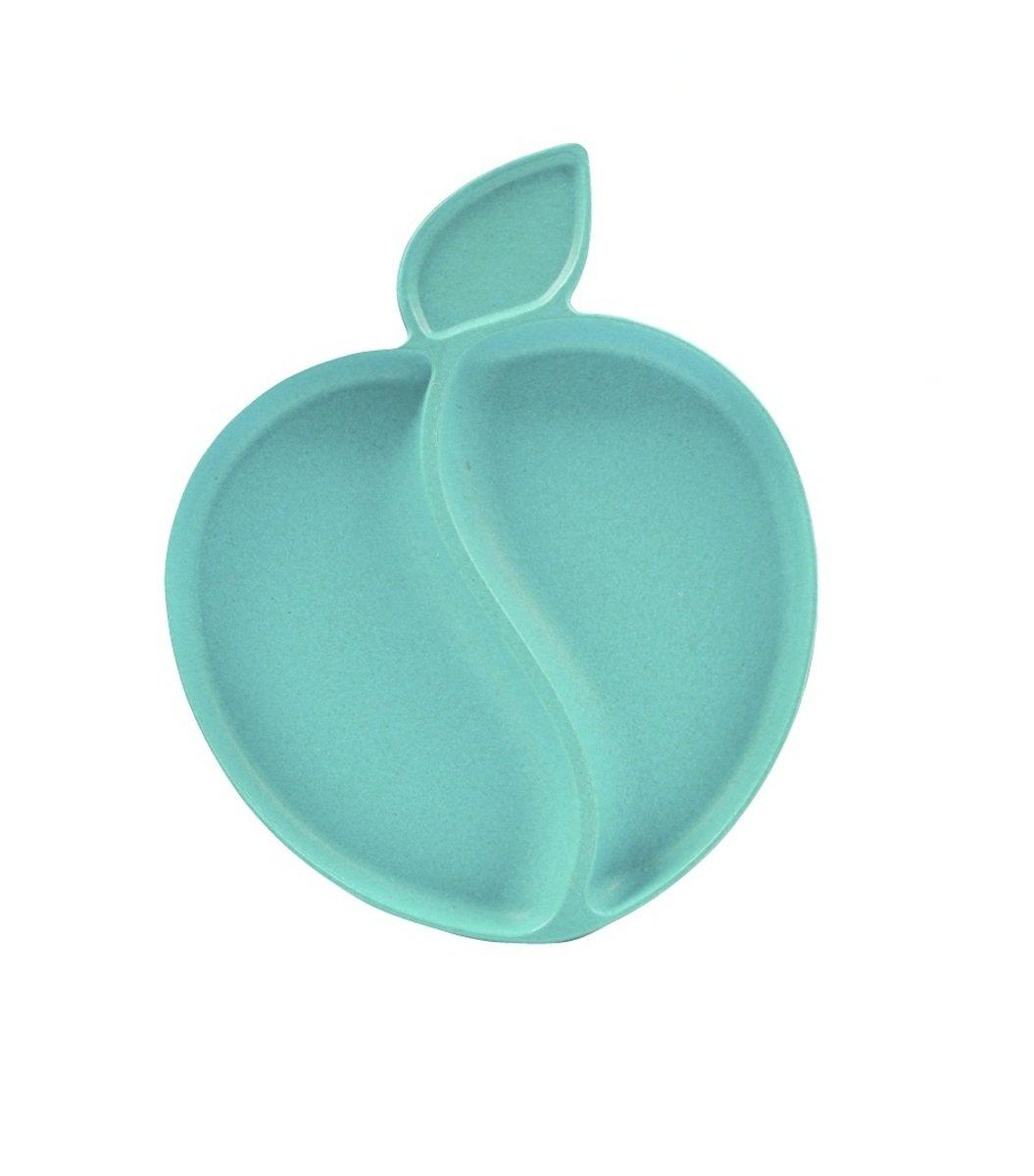 竹纖維蘋果碟-粉藍