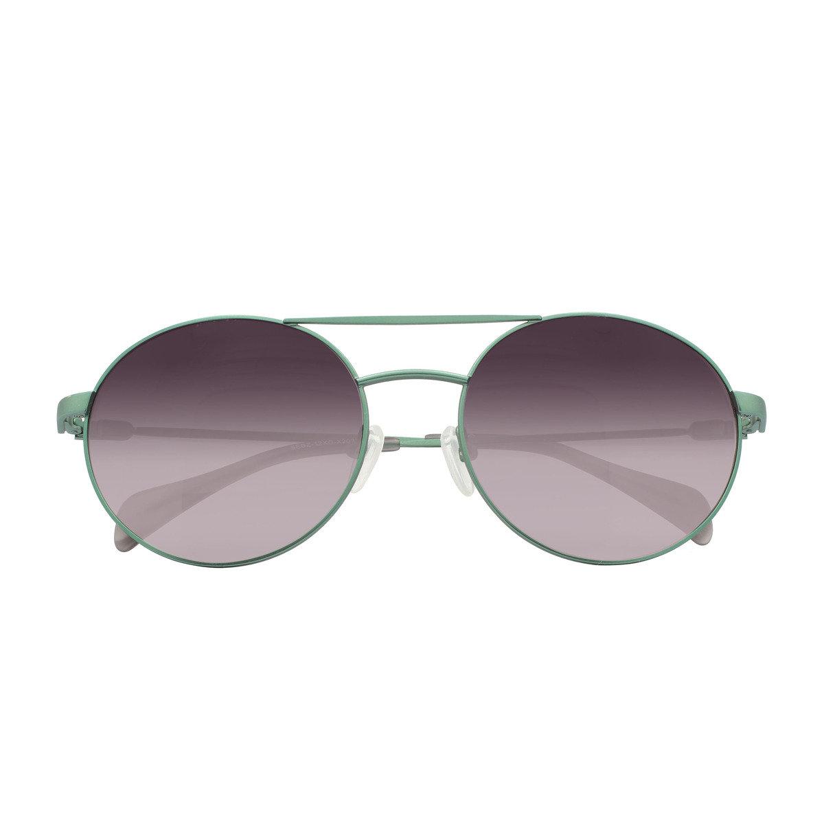 eGG 圓框金屬防UV淺綠太陽眼鏡