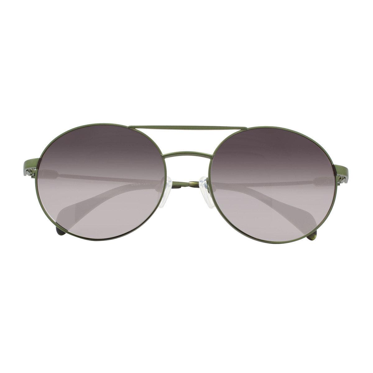 eGG 圓框金屬防UV深綠太陽眼鏡