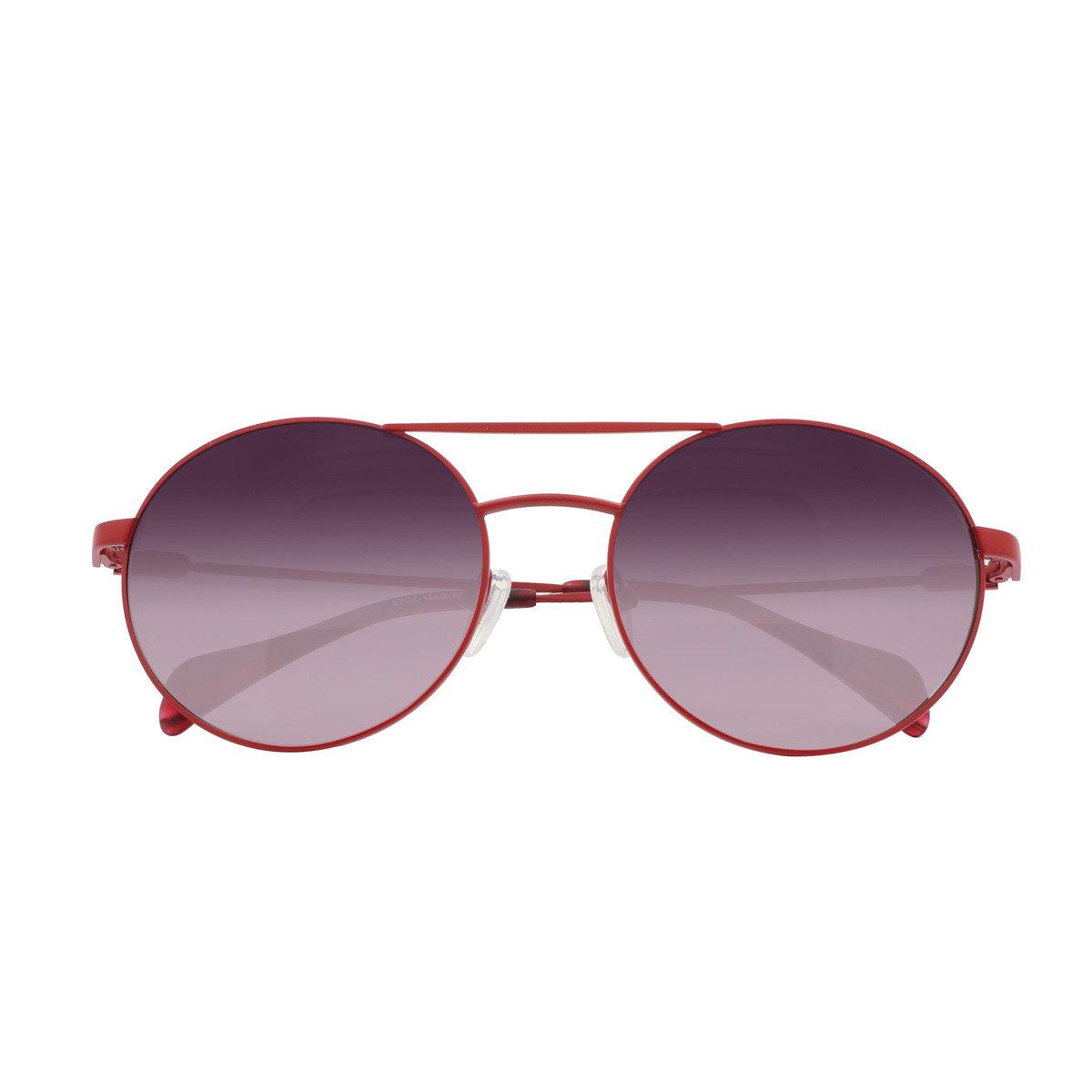 eGG 圓框金屬防UV紅色太陽眼鏡