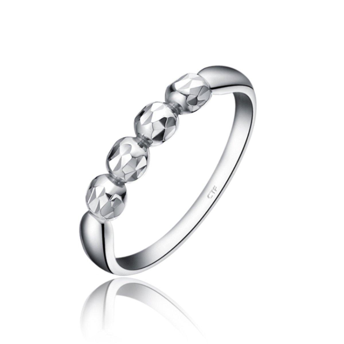 18K/750白色黃金戒指