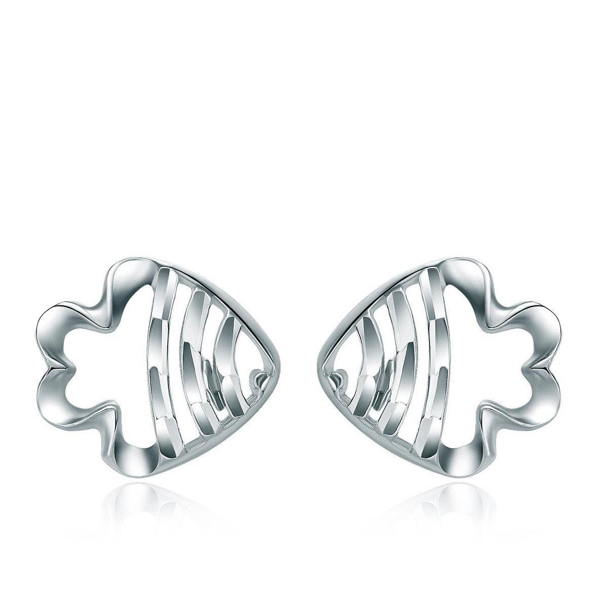 18K/750白色黃金耳環