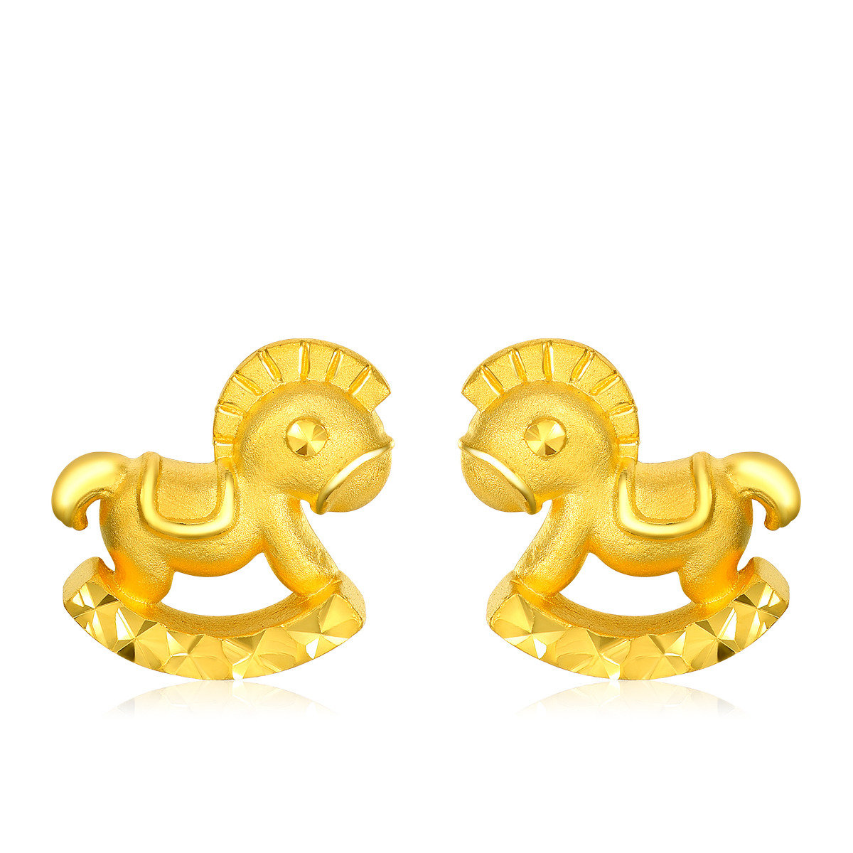 十二生肖:馬 999.9黃金耳環