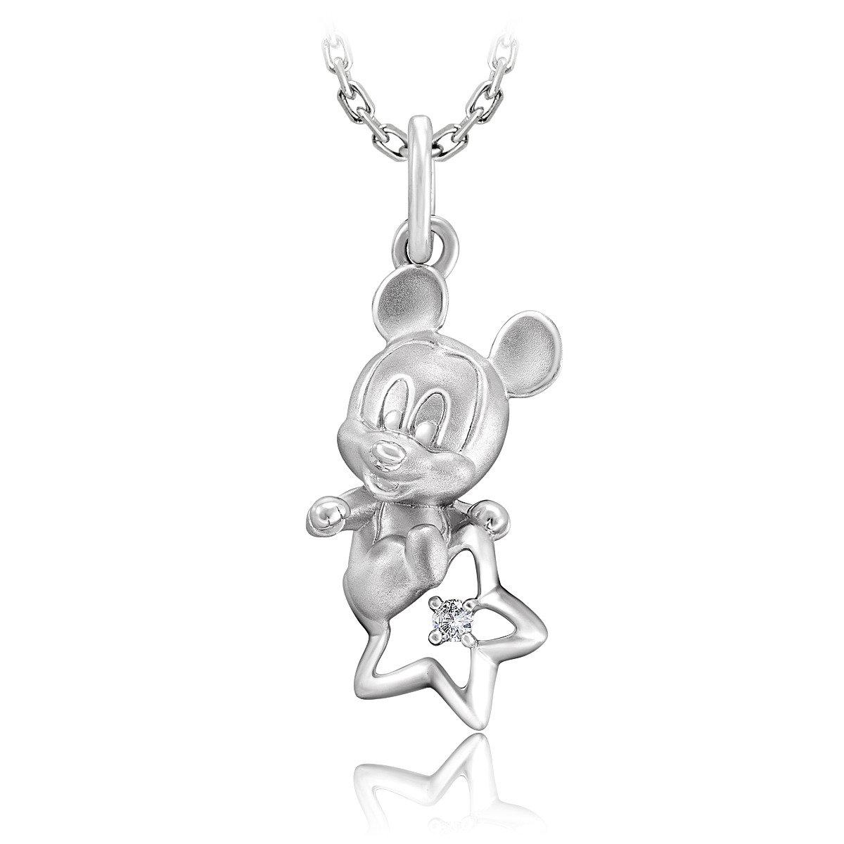 (HKTV獨家)迪士尼經典系列925銀鑲天然鑽石吊墜