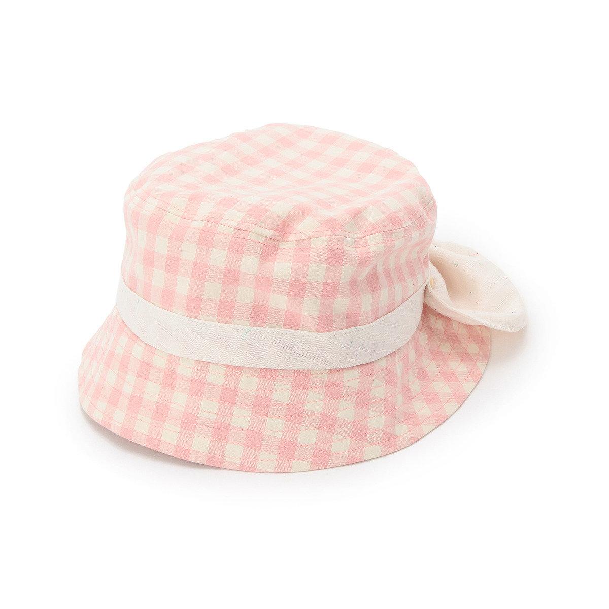 蝴蝶結格紋漁夫帽
