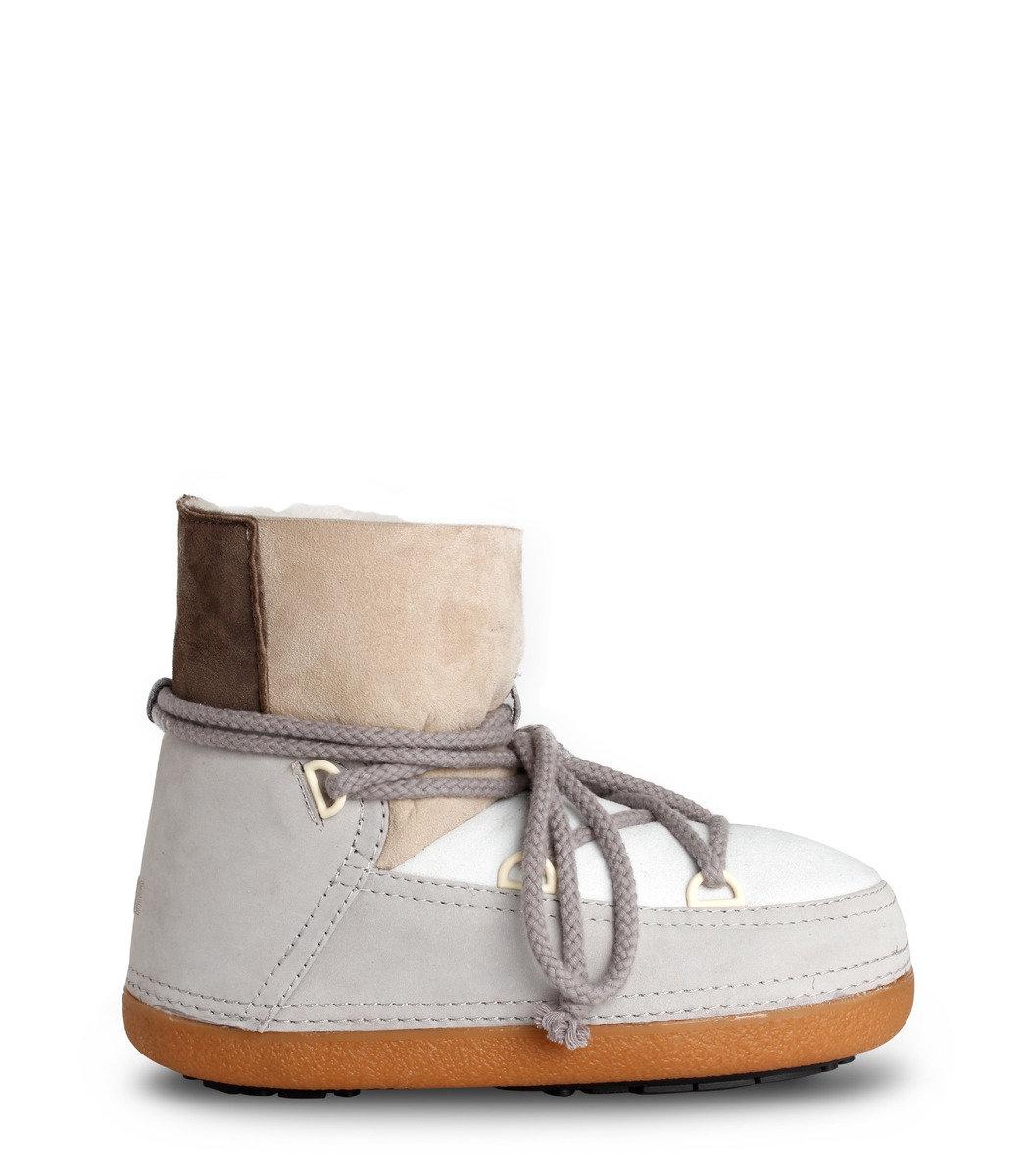 撞色拼貼短雪靴