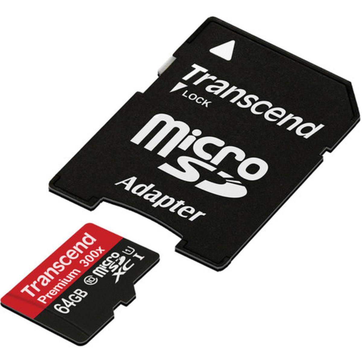 Transcend 64GB Micro SDXC Class 10 UHS-1 300X