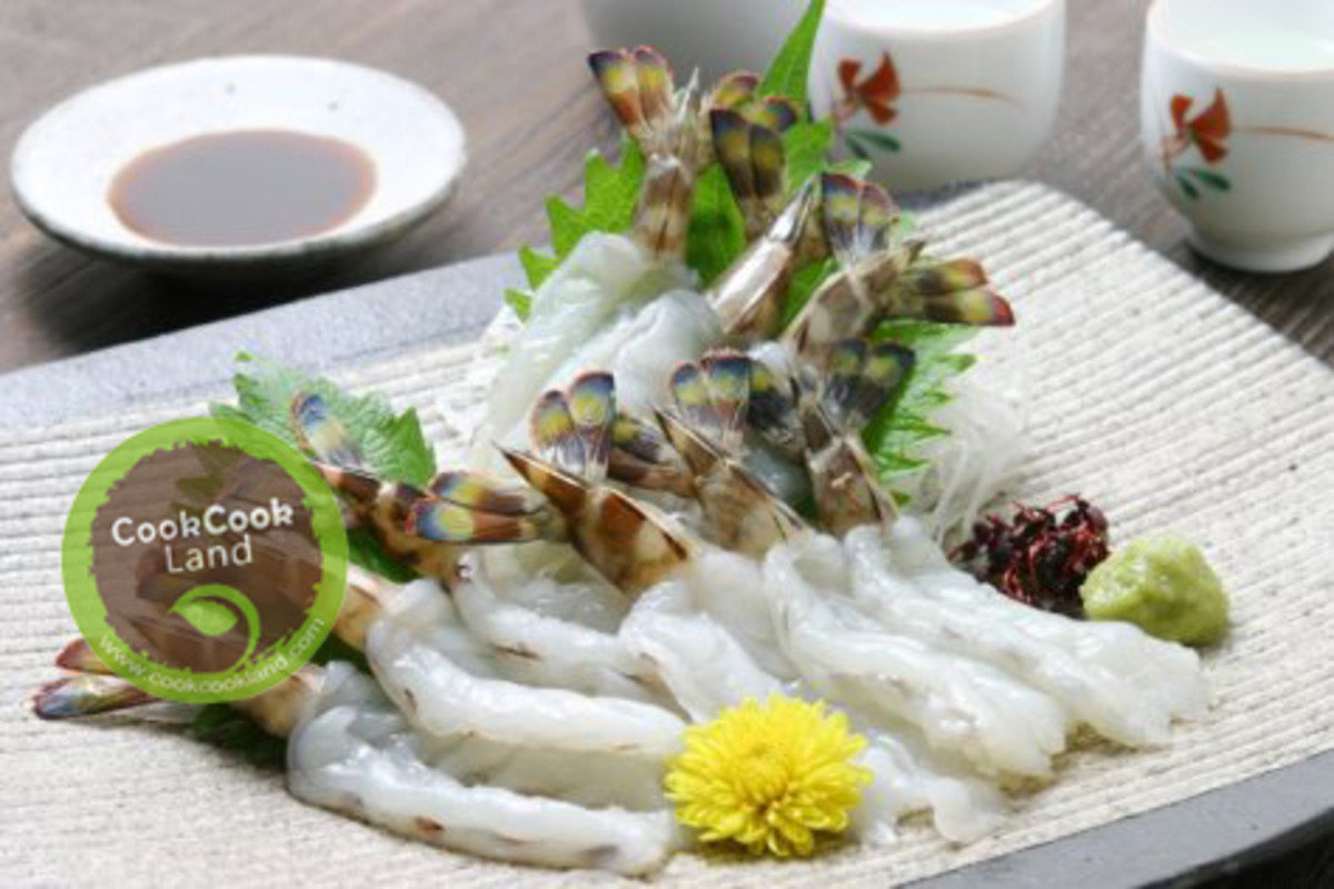越南玻璃虎蝦刺身 大隻裝 20隻/碟
