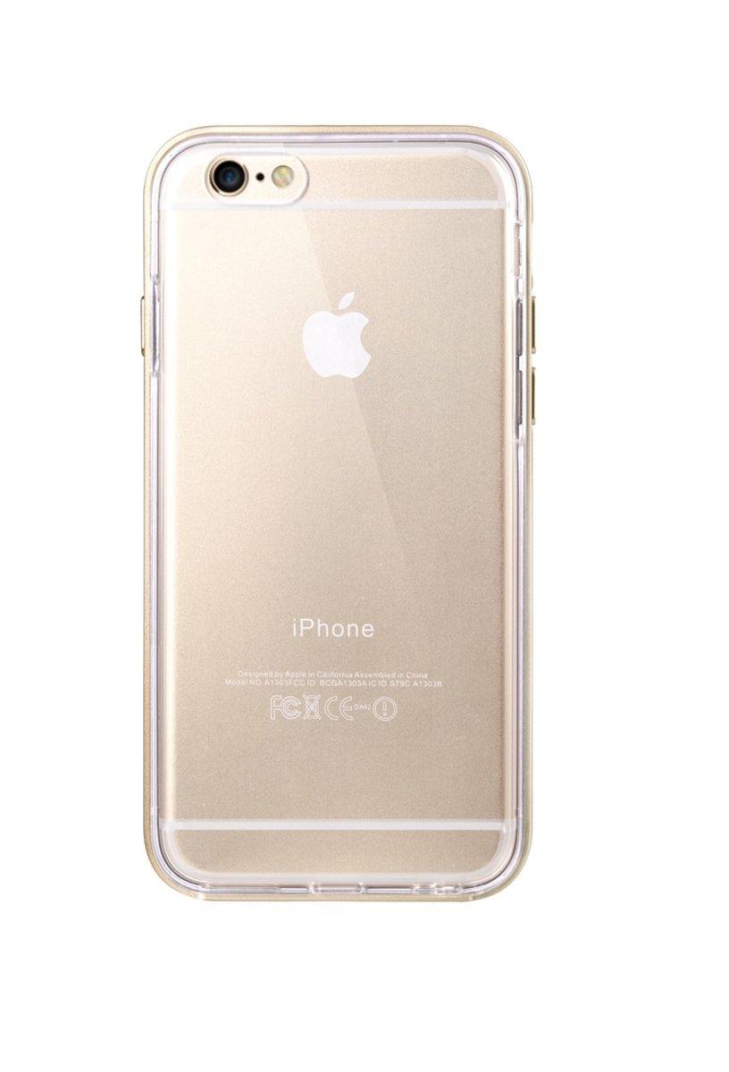 """iPhone 6 Plus/6S Plus (5.5"""") 雙層保護殼 加強版 - 金色(附送強化玻璃屏幕保護貼)"""