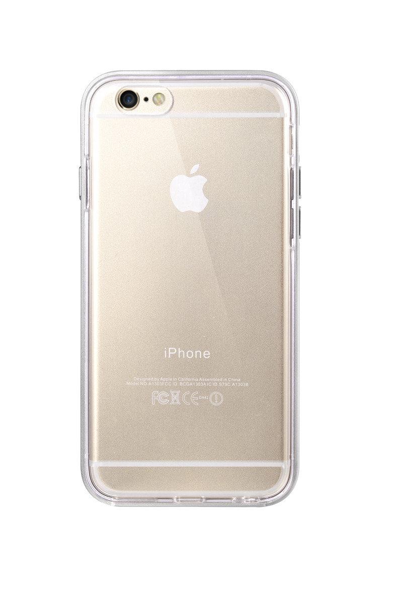 """iPhone 6/6S (4.7"""") 雙層保護殼 加強版 - 銀色(附送強化玻璃屏幕保護貼)"""
