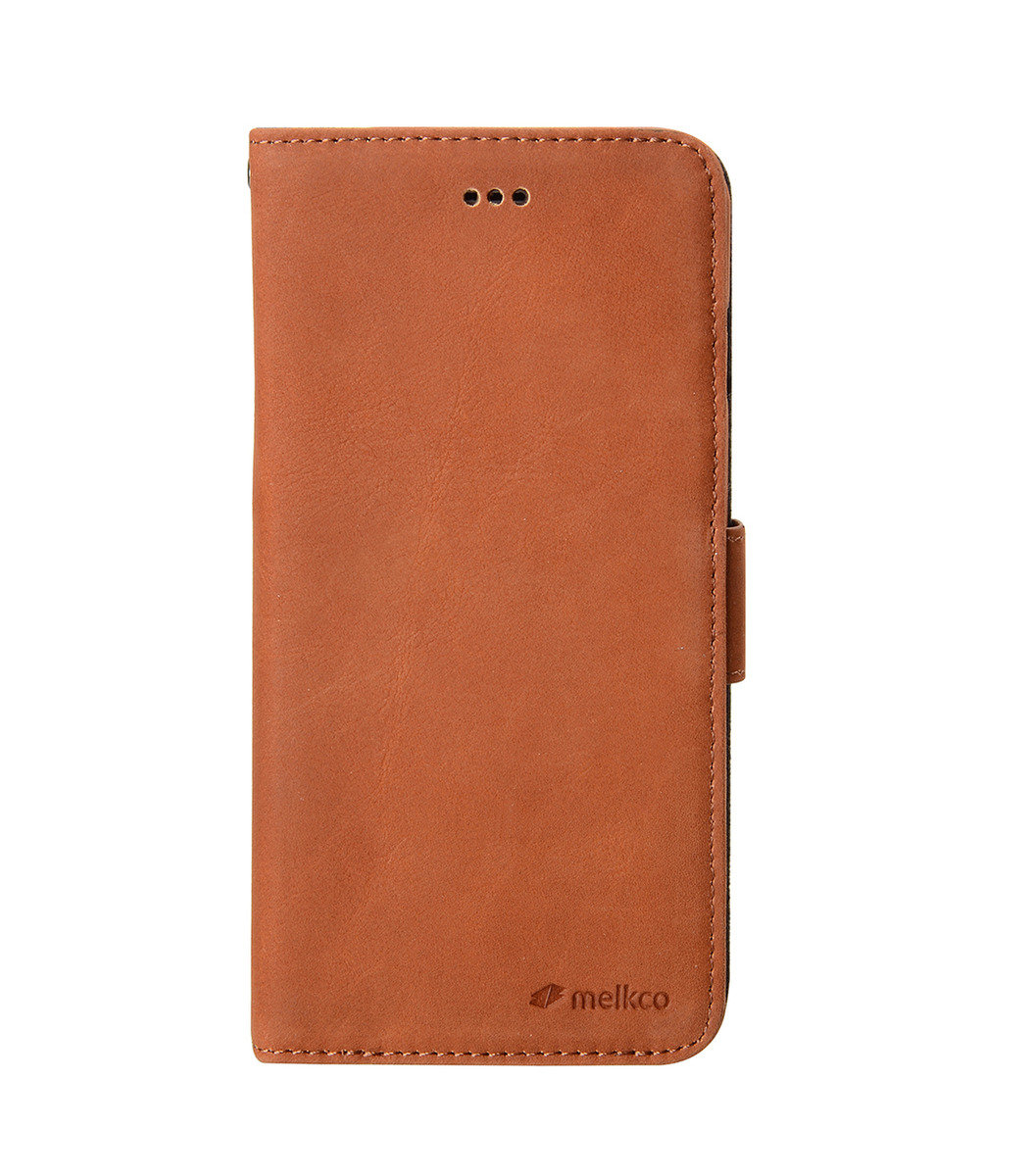 "Melkco- iPhone 6 Plus/6S Plus (5.5"") Wallet Book Type 高級真皮手機套 - 棕色"