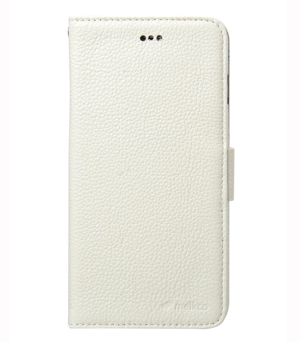"iPhone 6 Plus/6S Plus (5.5"") Wallet Book Type 高級真皮手機套 - 白色荔枝紋"