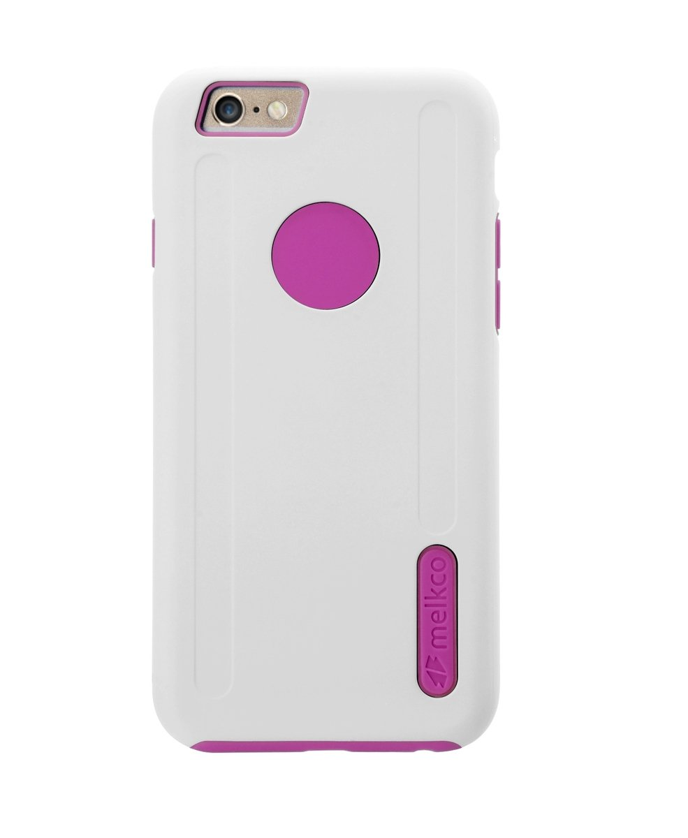 "Kubalt iPhone 6 Plus/6S Plus (5.5"") 雙層手機保護殼 - 白色/粉紅色(附送屏幕保護貼)"