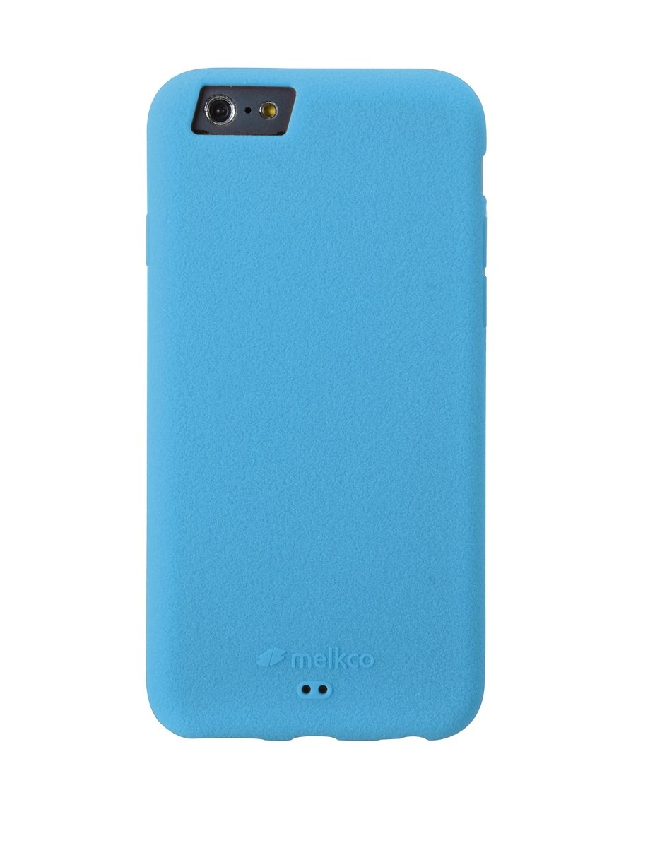 "iPhone 6 Plus/6S Plus (5.5"") Silikonovy 手機保護殼 - 藍色(附送手掛帶/屏幕保護貼)"