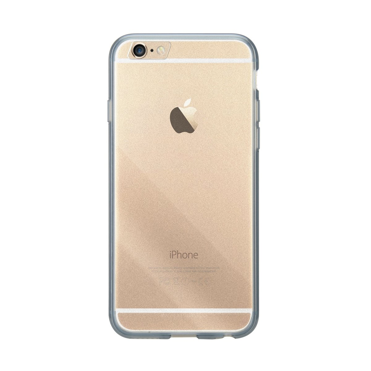 "iPhone 6 Plus/6S Plus (5.5"") PolyUltima手機保護殼 - 透明黑色(附送屏幕保護貼)"