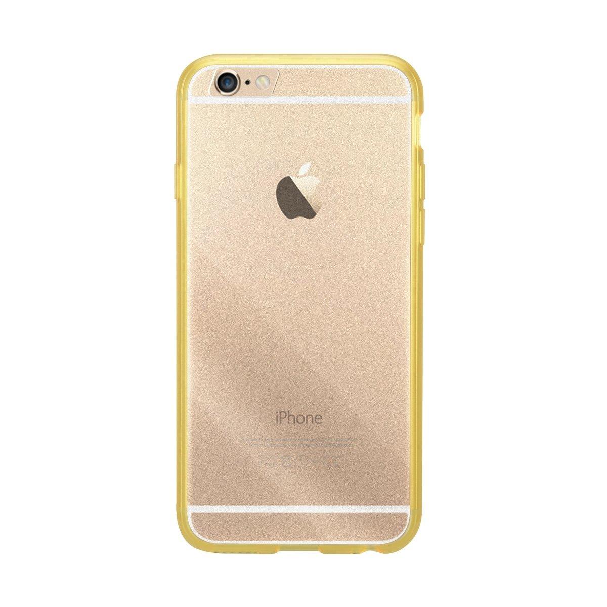 "iPhone 6 Plus/6S Plus (5.5"") PolyUltima 手機保護殼 - 透明黄色(附送屏幕保護貼)"