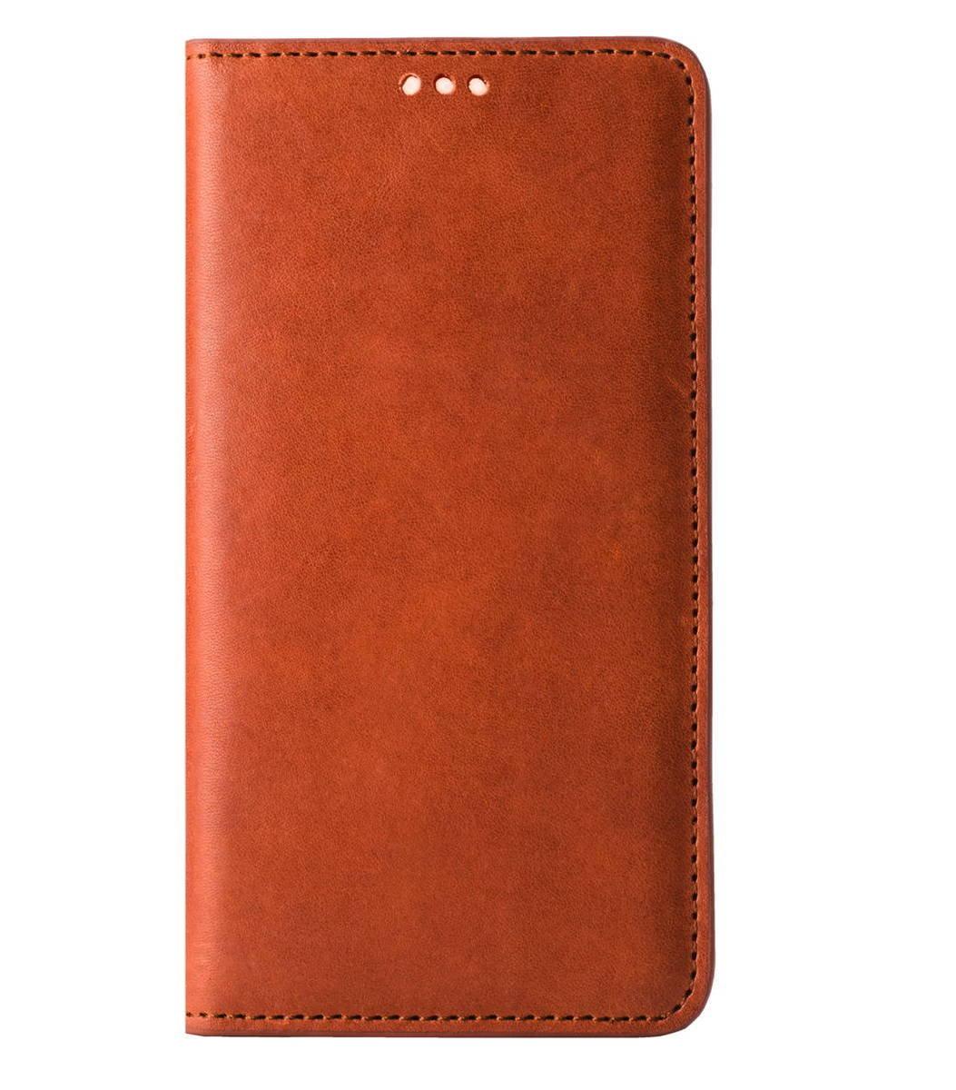 """iPhone 6/6S (4.7"""") Herman Series 意大利真牛皮手機套 - 橙啡色"""