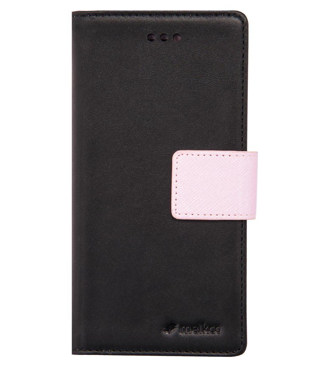 "iPhone 6 Plus/6S Plus 5.5"" Pure 系列 人造皮手機套 - 黑色/粉紅色"
