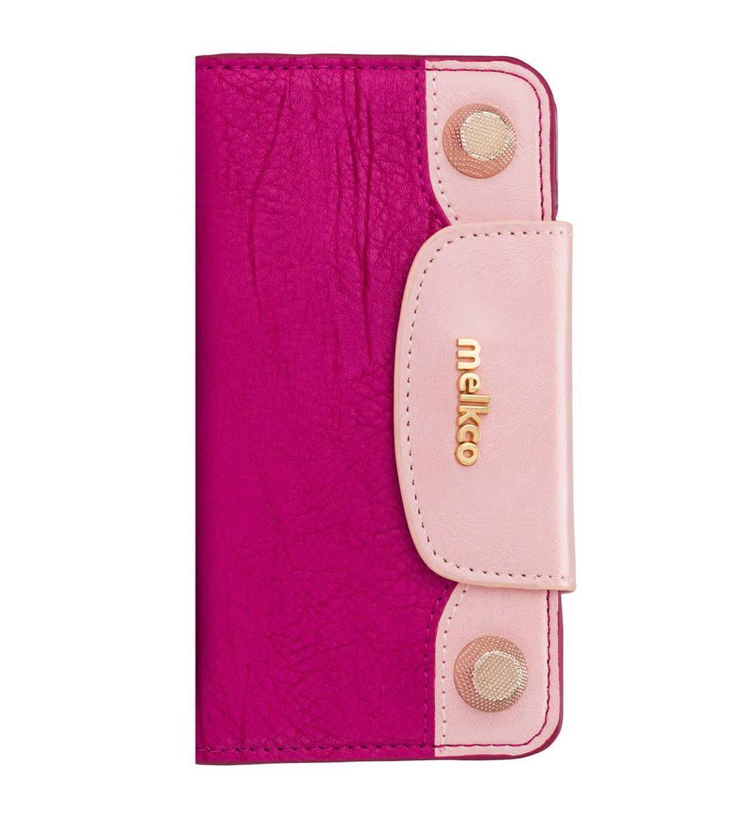 "iPhone 6/6S - 4.7"" Sarina 系列  高级真牛皮手機套 - 紫色/粉紅色"