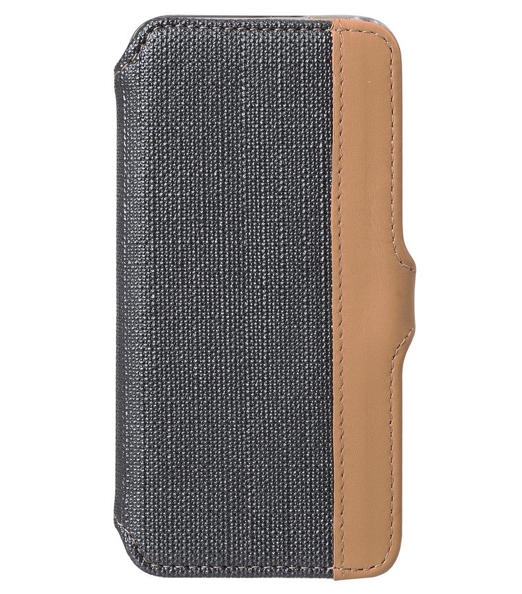 iPhone 5S/ 5 Sampu系列 橫揭式高級皮革手機套 - 灰色