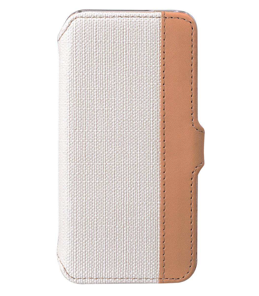 iPhone 5S/ 5 Sampu系列 橫揭式高級皮革手機套 - 白色