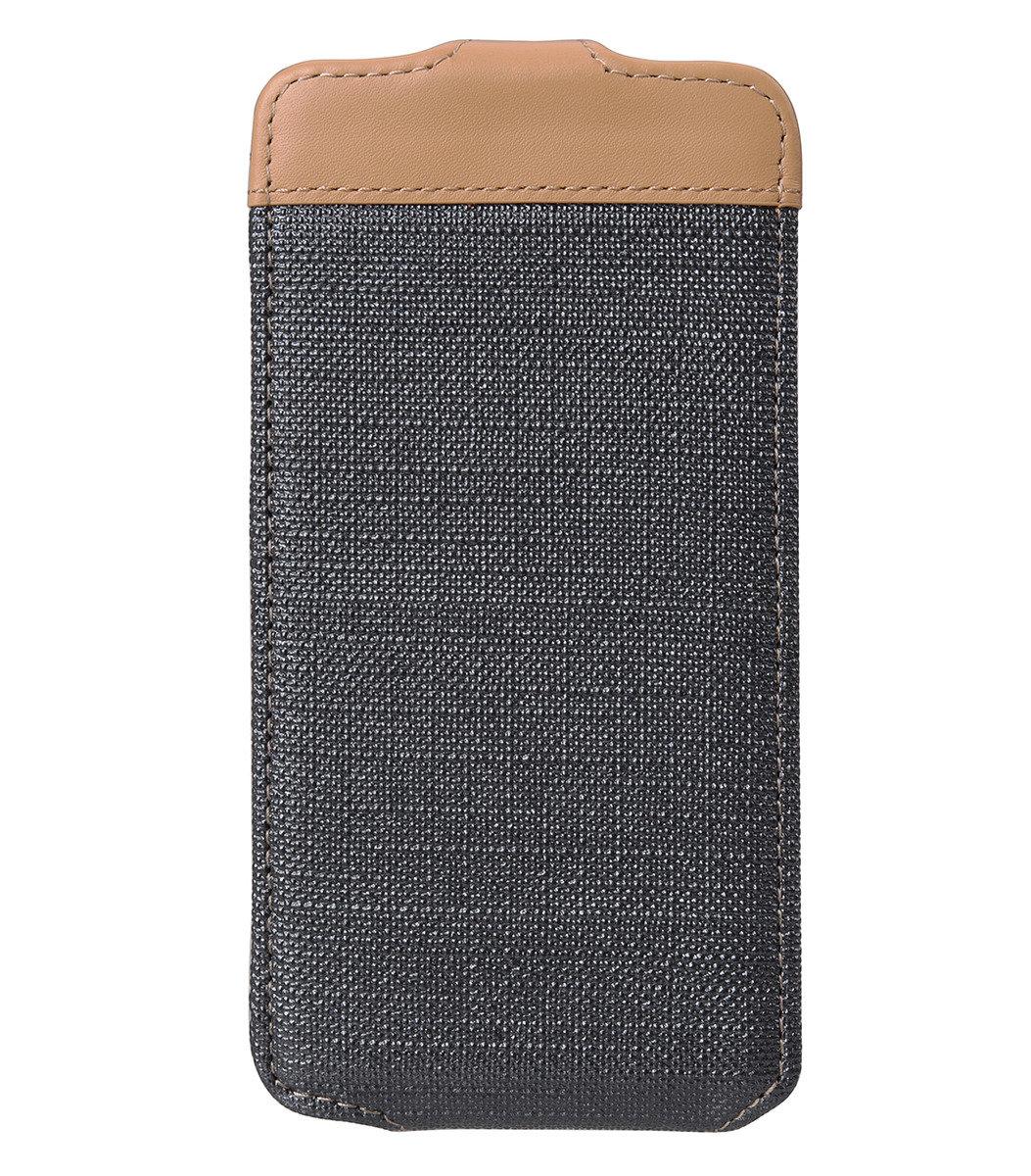 "iPhone 6 Plus/6S Plus (5.5"") Sampu系列 直揭式高級皮革手機套 - 灰色"