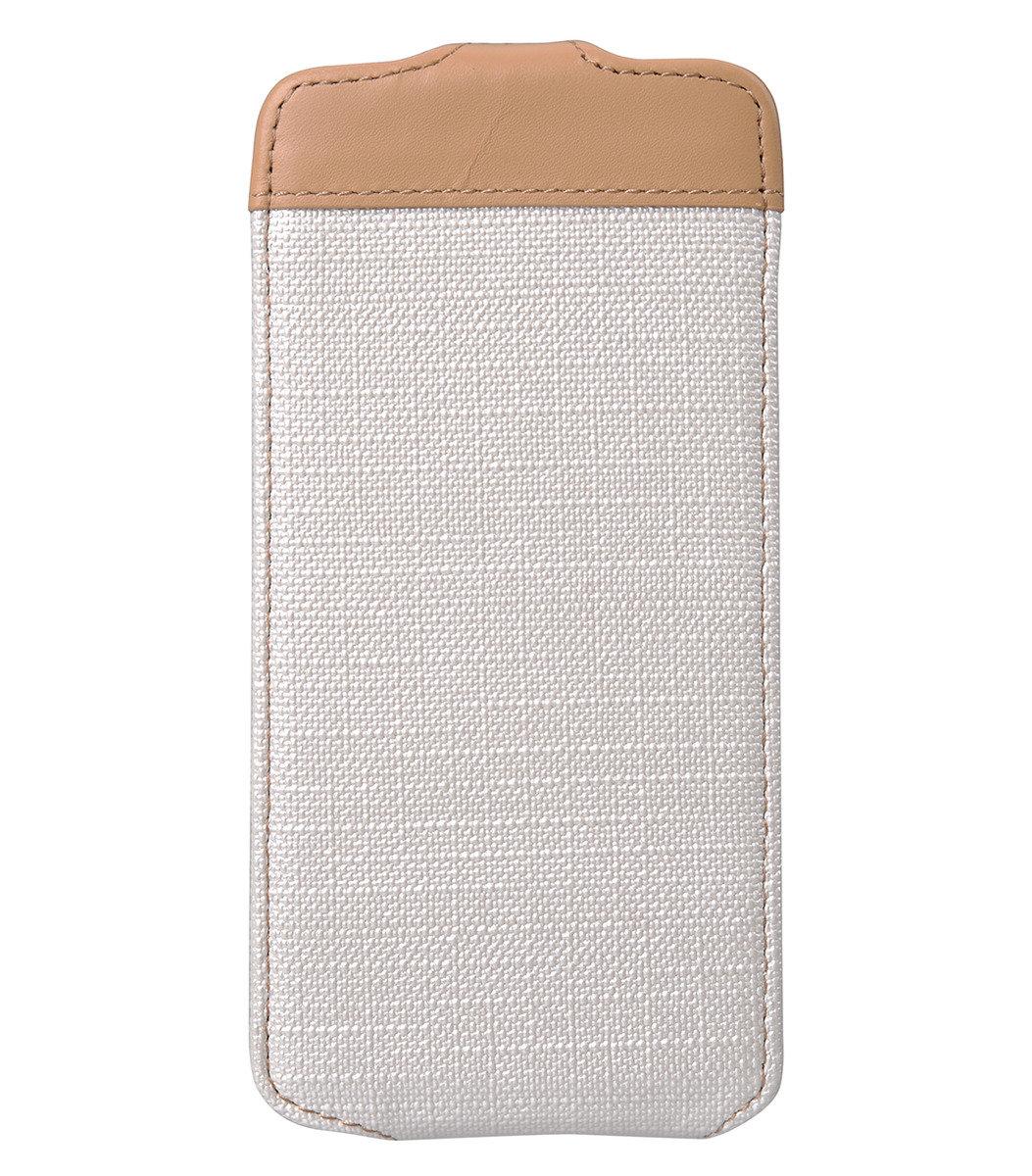 "iPhone 6 Plus/6S Plus (5.5"") Sampu系列 直揭式高級皮革手機套 - 白色"