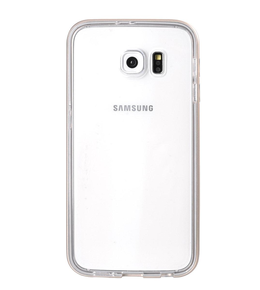 Galaxy S6  雙層保護殼 加強版 (附送屏幕強化玻璃)金屬金色