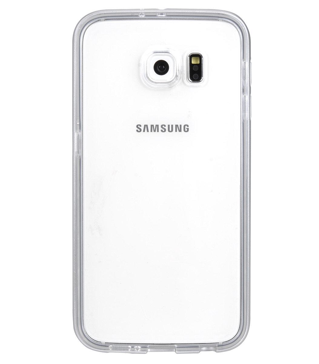Galaxy S6  雙層保護殼 加強版 (附送屏幕強化玻璃)金屬银色