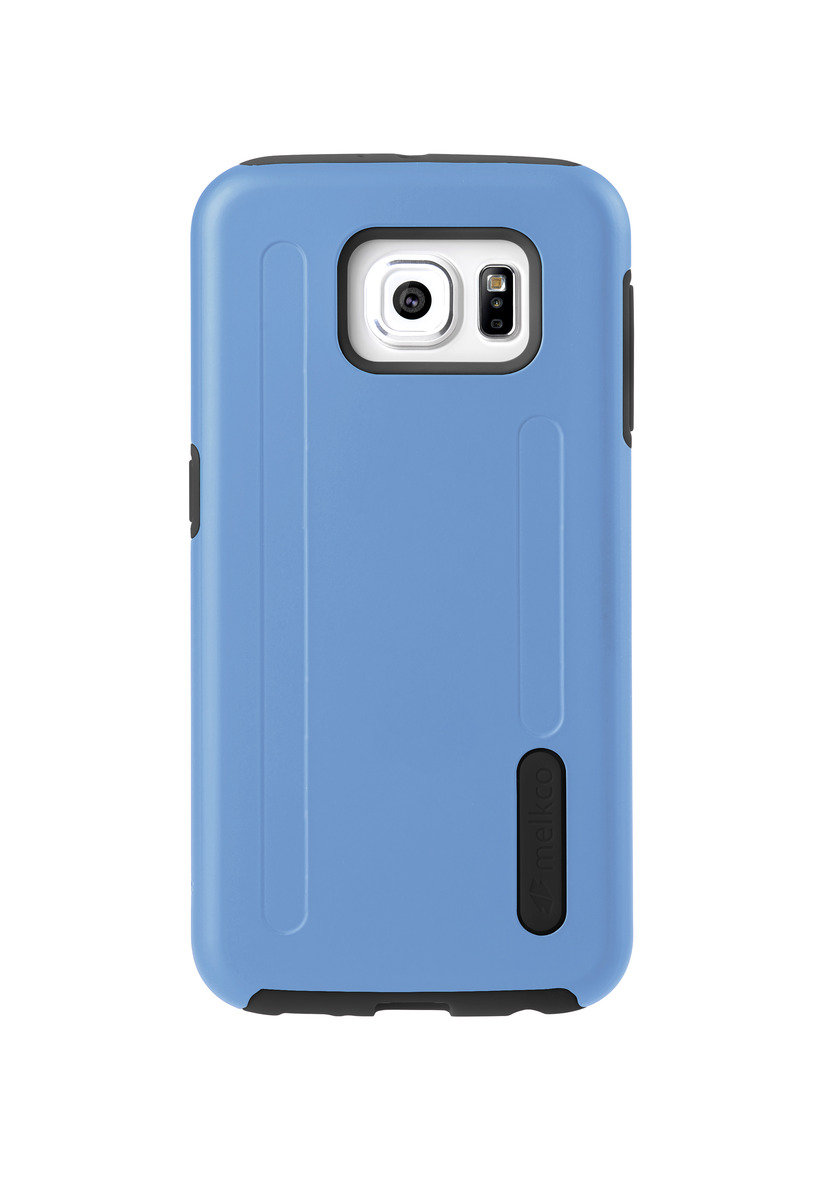 Kubalt Galaxy S6 雙層手機保護殼 - 藍色/黑色(附送屏幕保護貼)