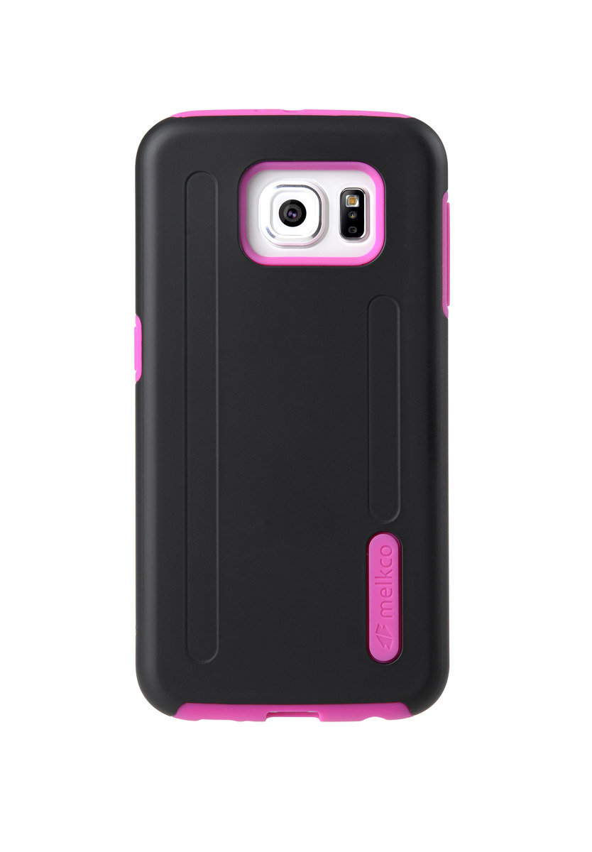 Kubalt Galaxy S6 雙層手機保護殼 - 黑色/粉紅色(附送屏幕保護貼)