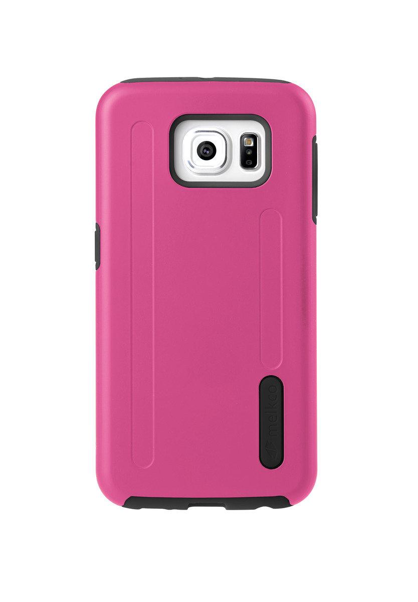 Kubalt Galaxy S6 雙層手機保護殼 - 粉紅色/黑色(附送屏幕保護貼)