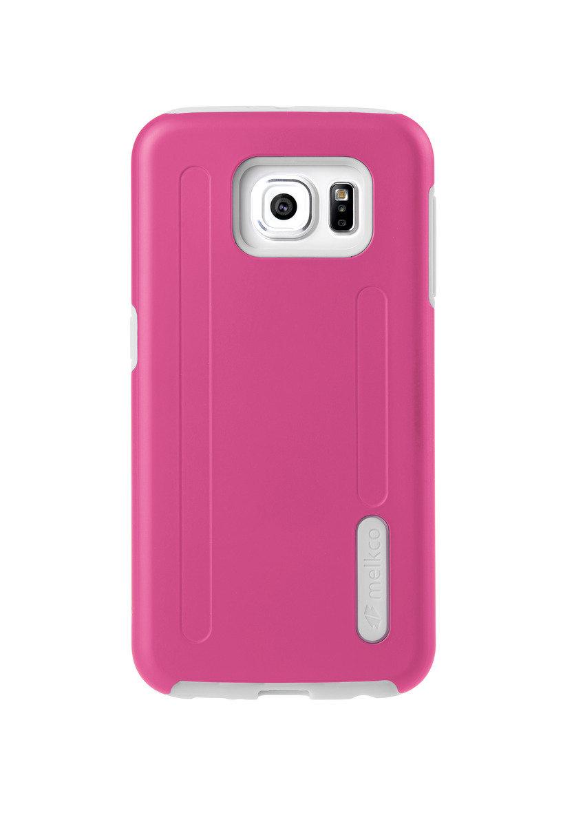Kubalt Galaxy S6 雙層手機保護殼 - 粉紅色/白色(附送屏幕保護貼)