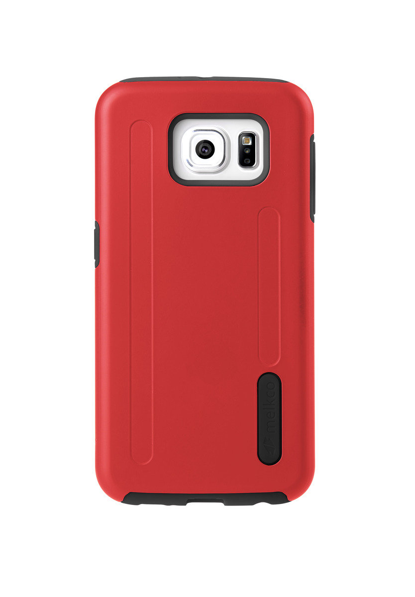 Kubalt Galaxy S6 雙層手機保護殼 - 紅色/黑色(附送屏幕保護貼)