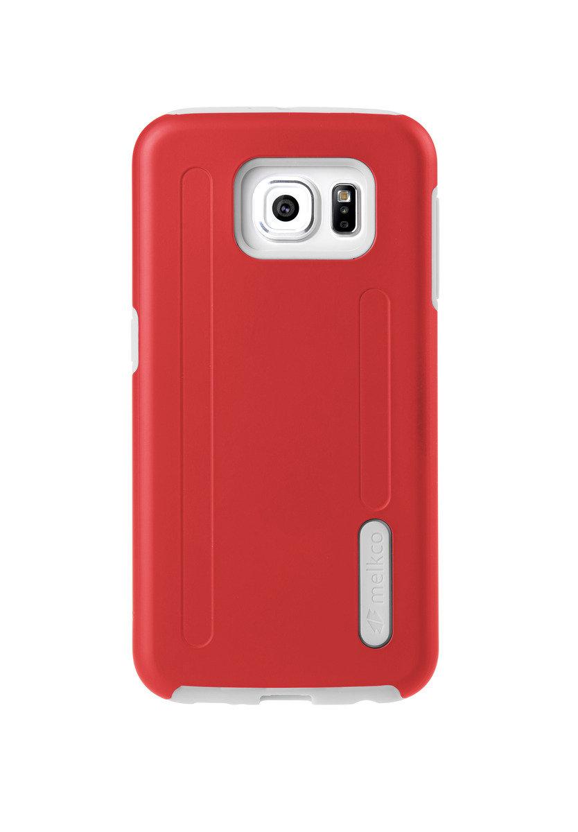 Kubalt Galaxy S6 雙層手機保護殼 - 紅色/白色(附送屏幕保護貼)