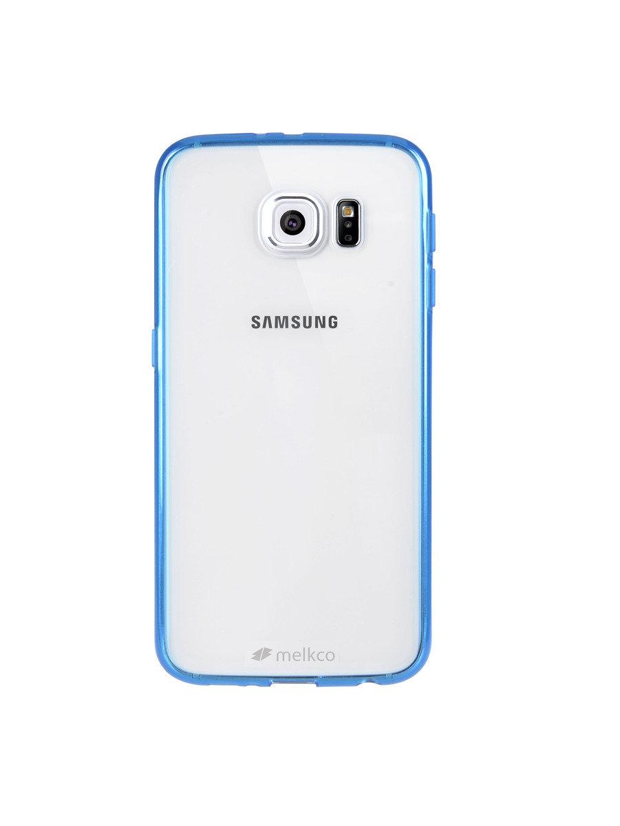 Galaxy S6 PolyUltima 手機保護殼 - 透明藍色(附送屏幕保護貼)
