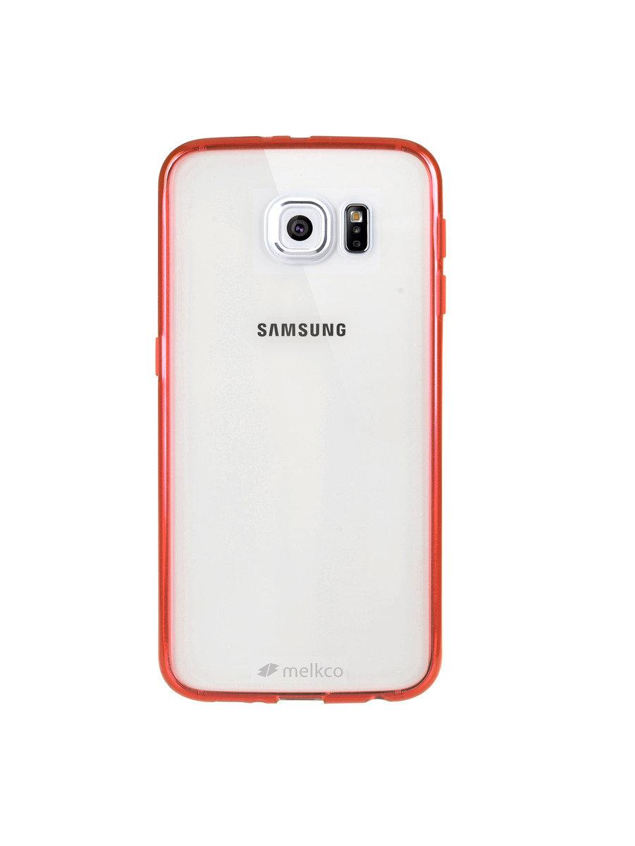 Galaxy S6 PolyUltima 手機保護殼 - 透明紅色(附送屏幕保護貼)