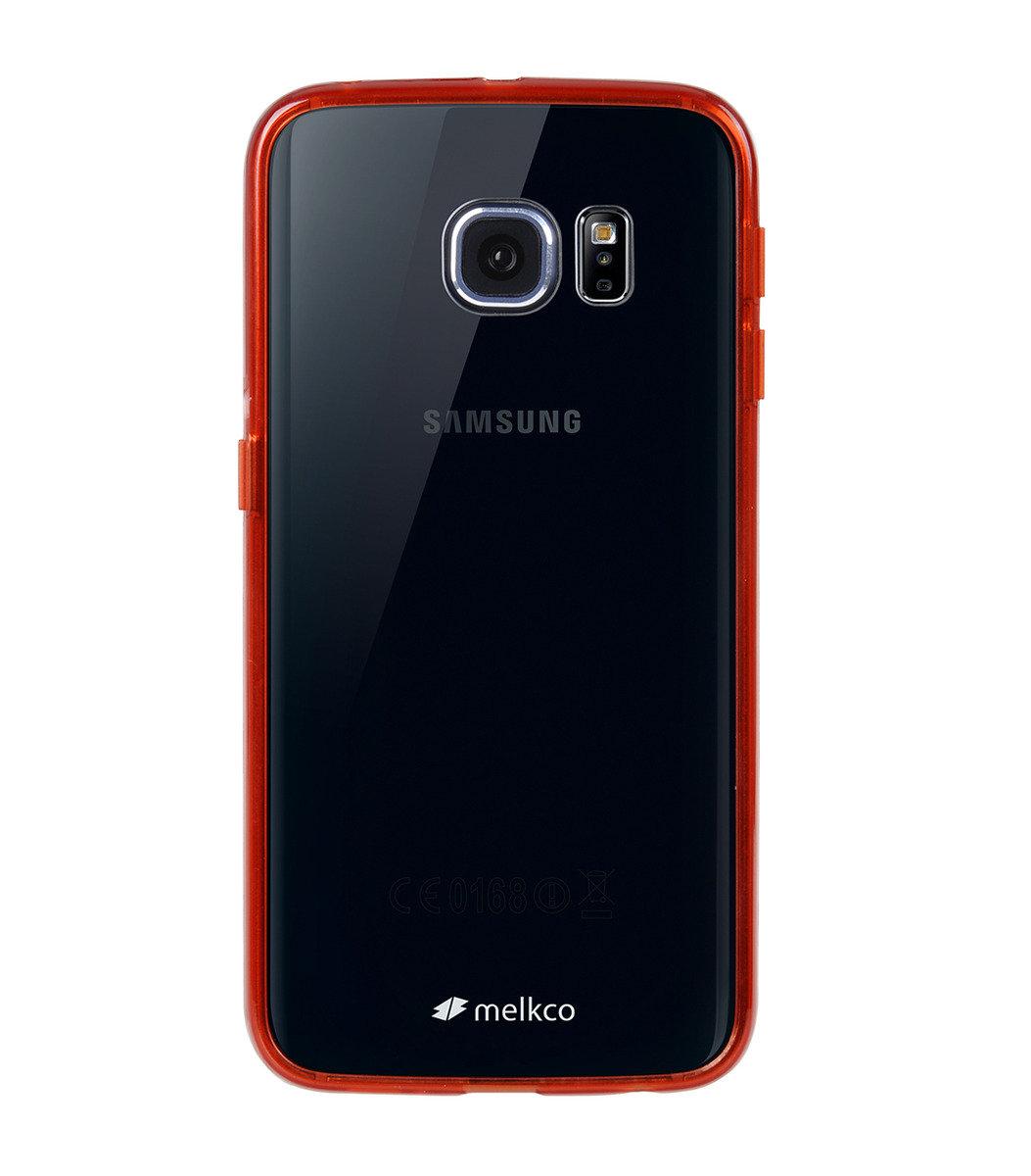 Galaxy S6 Edge PolyUltima手機保護殼 - 透明紅色(附送屏幕保護貼)