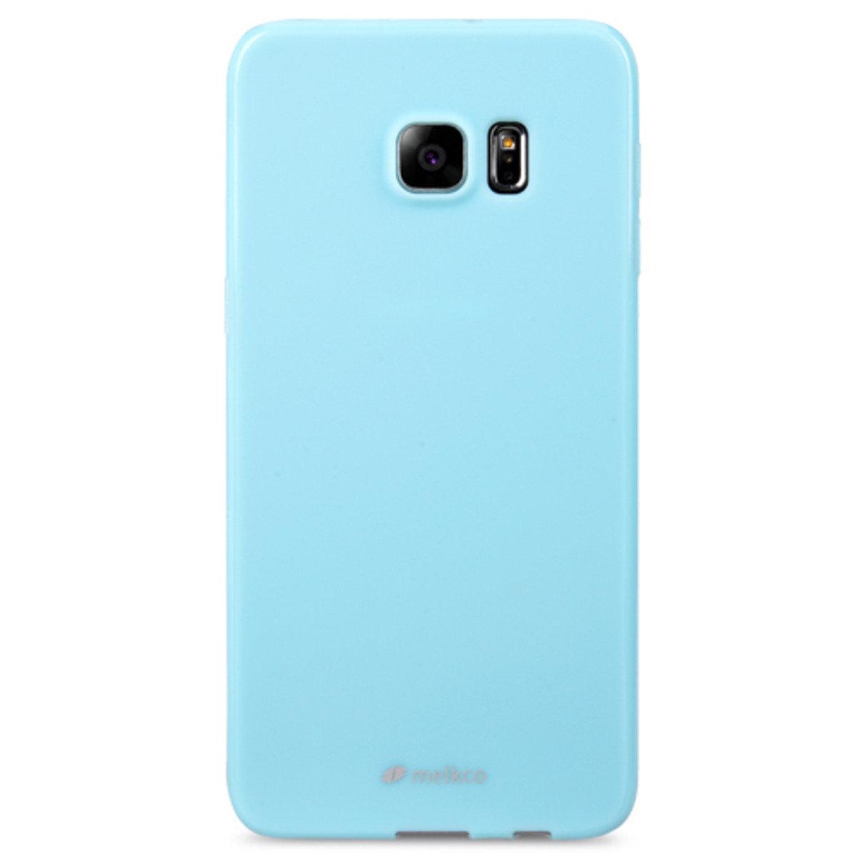 Galaxy S6 Edge Plus Poly Jacket手機保護殼 - 珍珠藍色(附送屏幕保護貼)