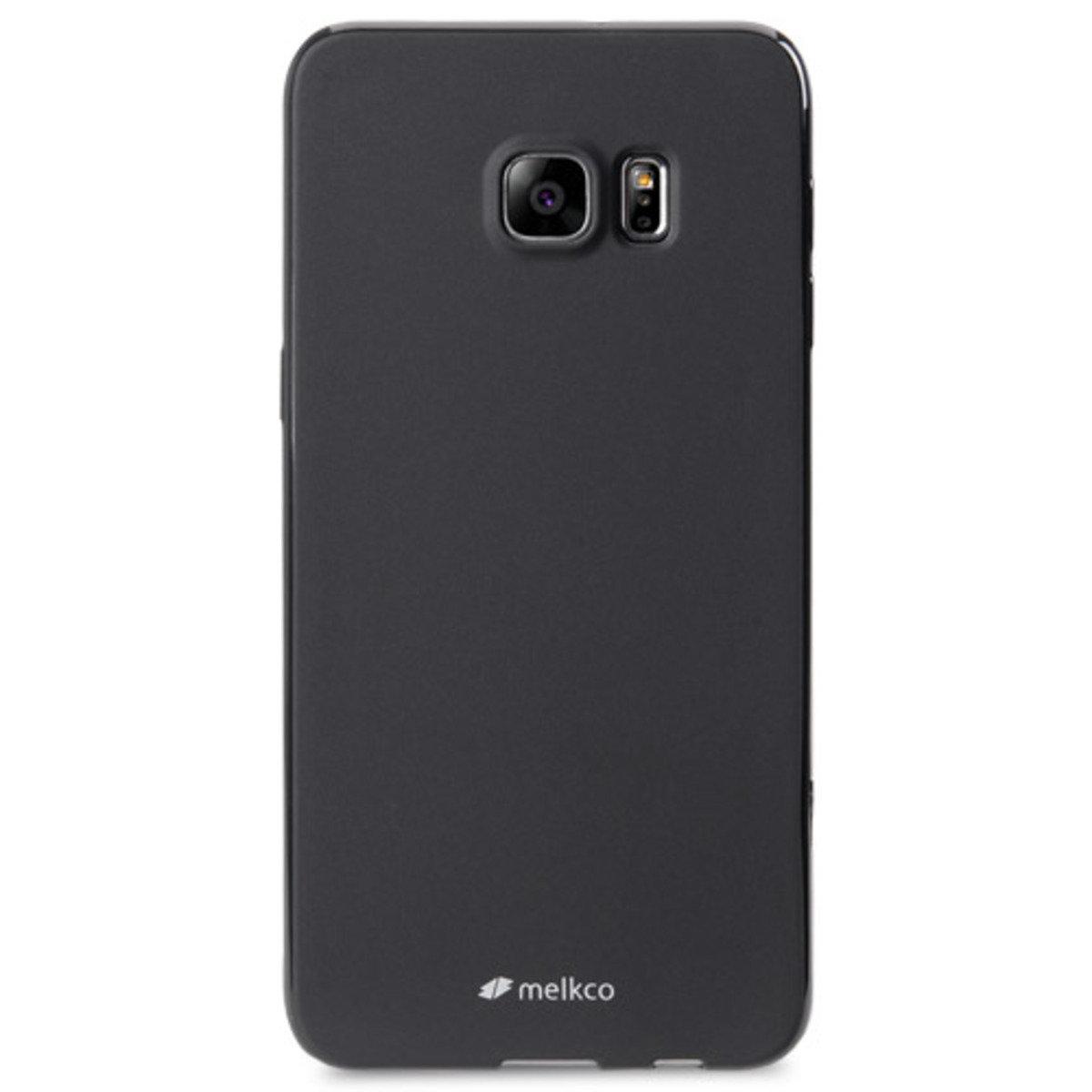 Galaxy S6 Edge Plus Poly Jacket手機保護殼 - 黑色(附送屏幕保護貼)