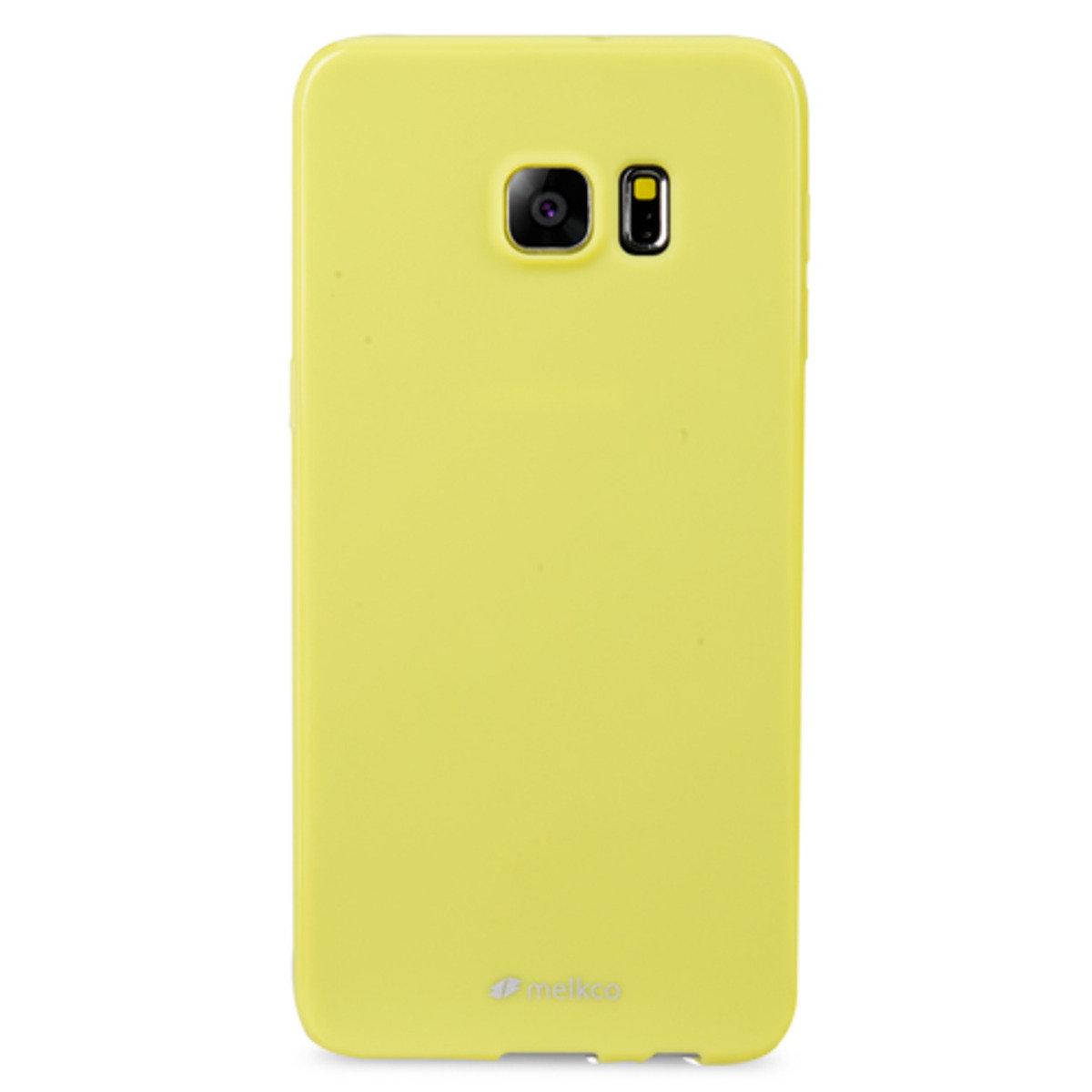 Galaxy S6 Edge Plus Poly Jacket手機保護殼 - 珍珠黃色(附送屏幕保護貼)