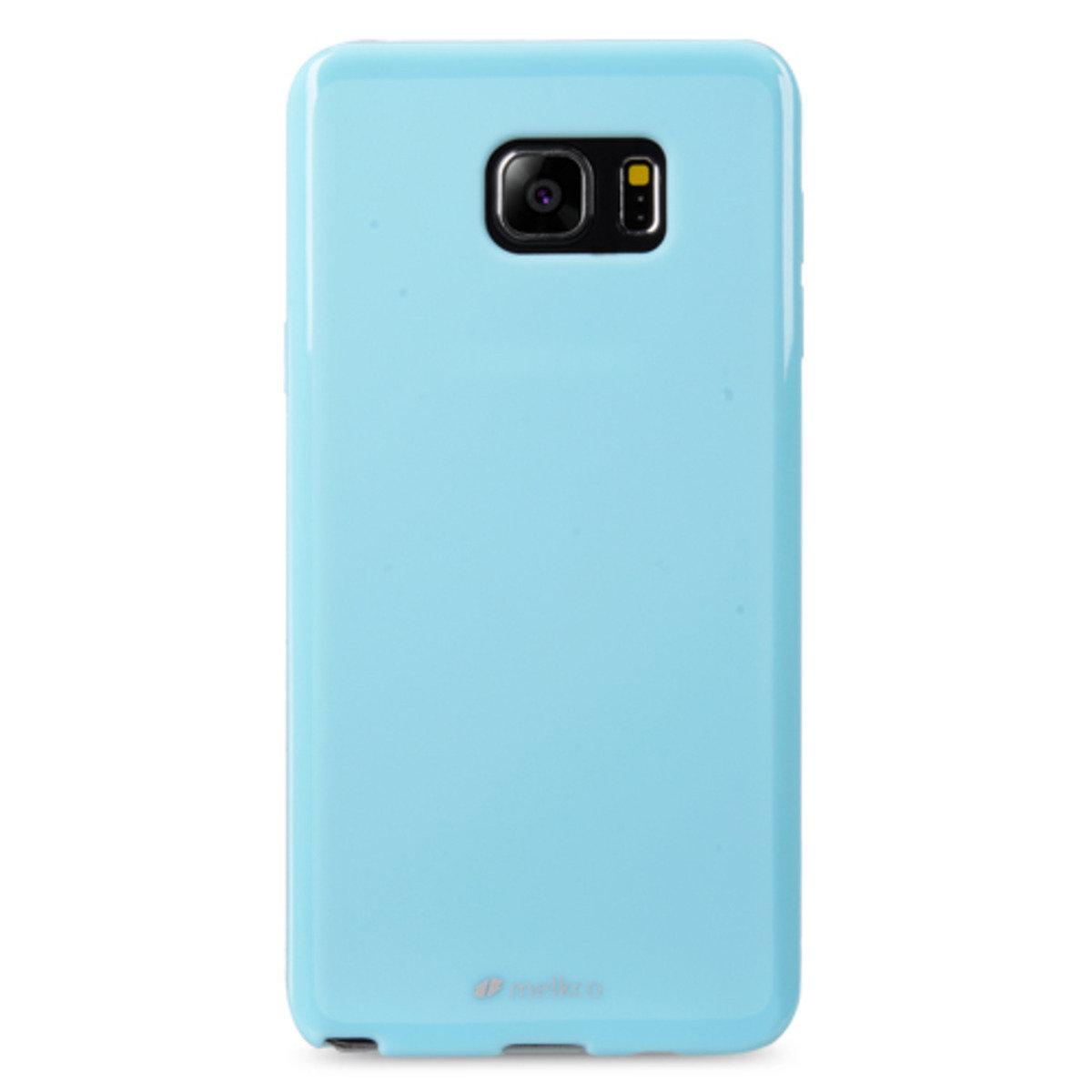 Galaxy Note 5 Poly Jacket手機保護殼 - 珍珠藍色(附送屏幕保護貼)